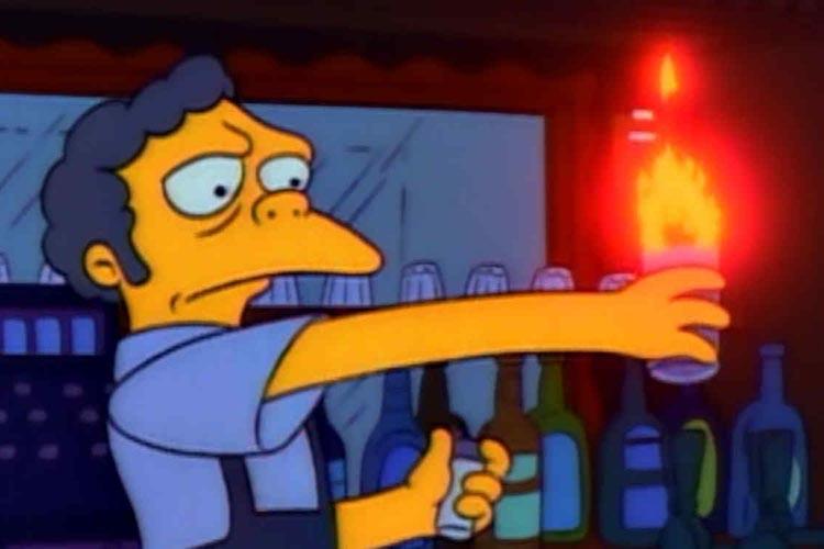 Los Simpsons Llamarada Moe