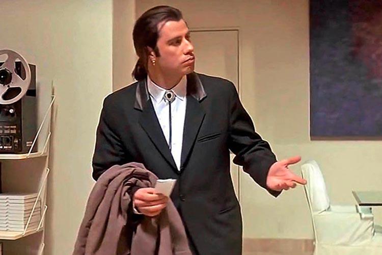John Travolta en Pulp Fiction es de los mejores personajes de Quentin Tarantino