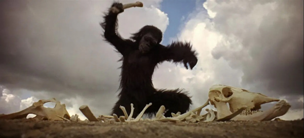 ape-man-with-bone-2001-Kubrick