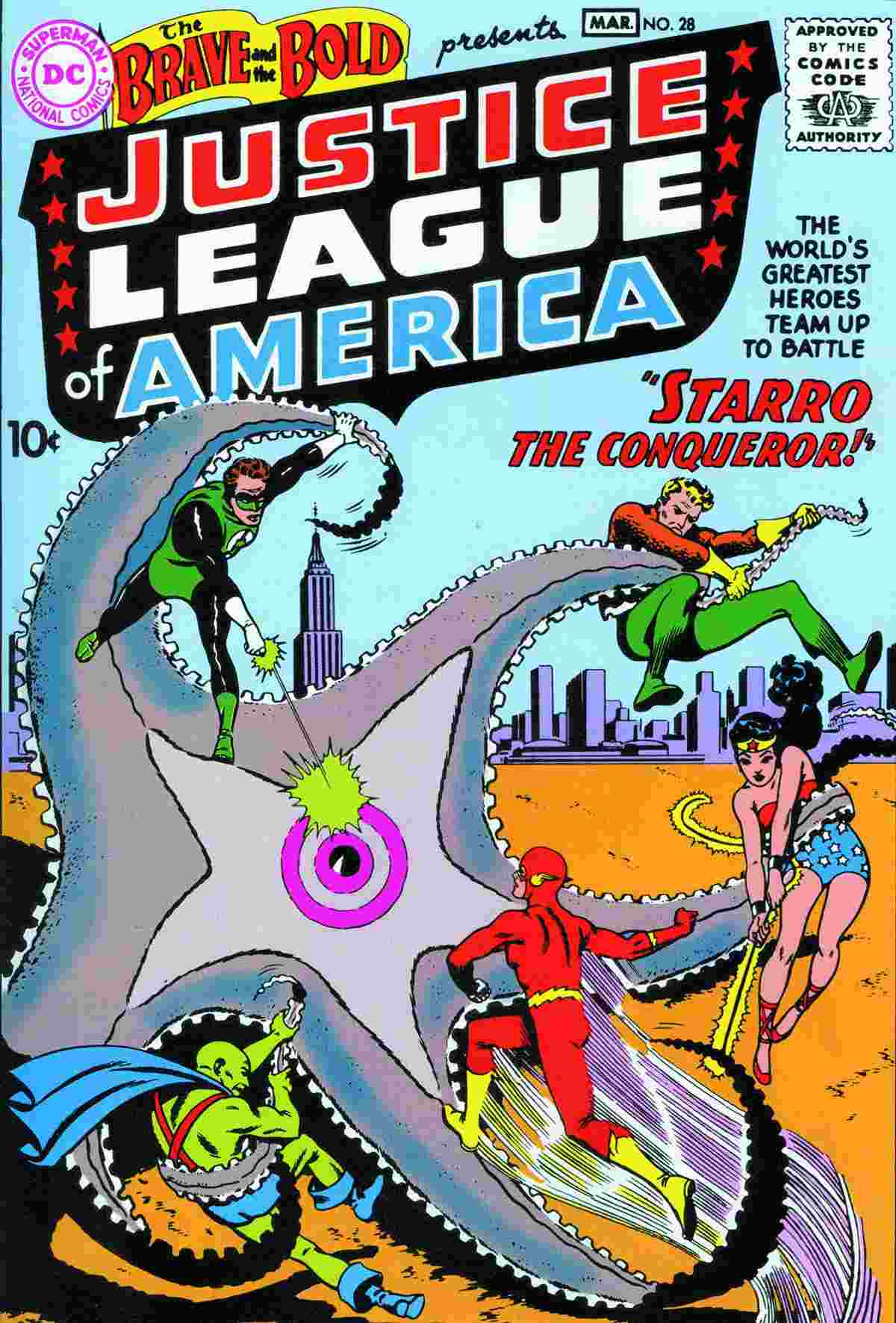First Justice League Starro cover